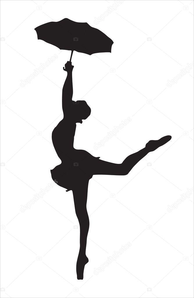 silhouet van de ballerina � stockvector 169 darkwinter 4807474