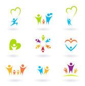 Fotografie Kinder, Familie, Gemeinschaft und Schutz Icons und Symbole