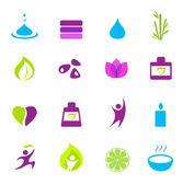 Fényképek Víz, wellness, a természet és a zen ikonok - rózsaszín, zöld, kék