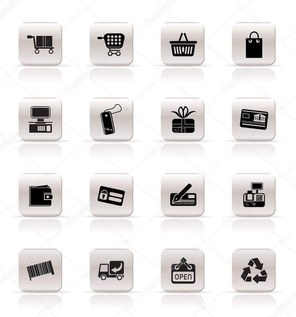 einfache online-Shop Symbole — Stockvektor © stoyanh #4999671