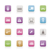 Photo Transportation, travel and shipment icons