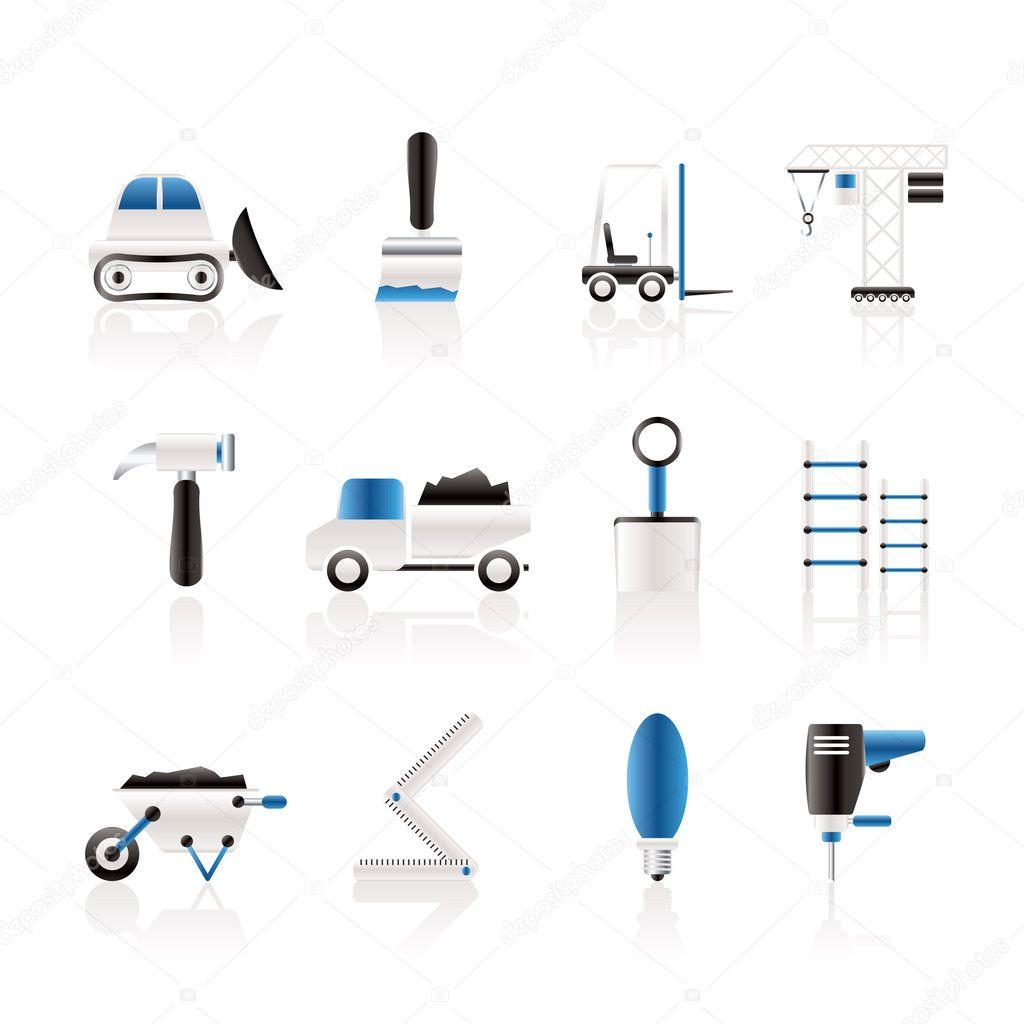 cones de equipamentos de constru o civil vetores de stock stoyanh 5049863. Black Bedroom Furniture Sets. Home Design Ideas
