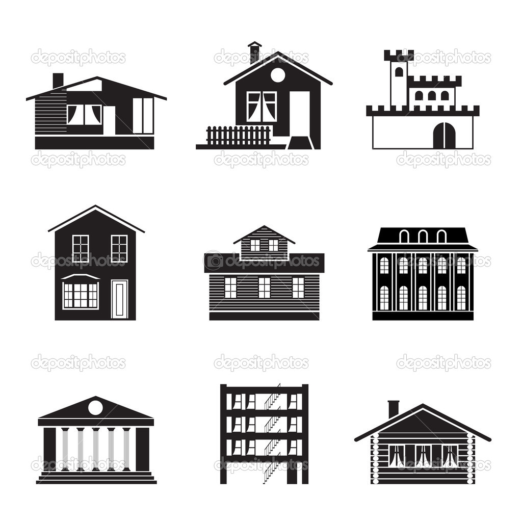 different kind of houses and buildings stock vector stoyanh 5053782. Black Bedroom Furniture Sets. Home Design Ideas