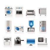 Domácí elektroniky a vybavení ikony