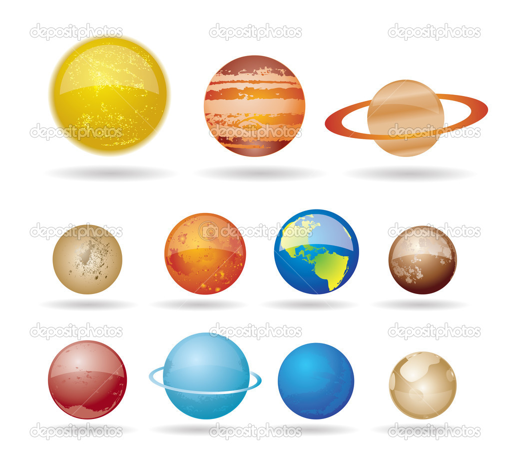 planets and sun from our solar system u2014 stock vector stoyanh