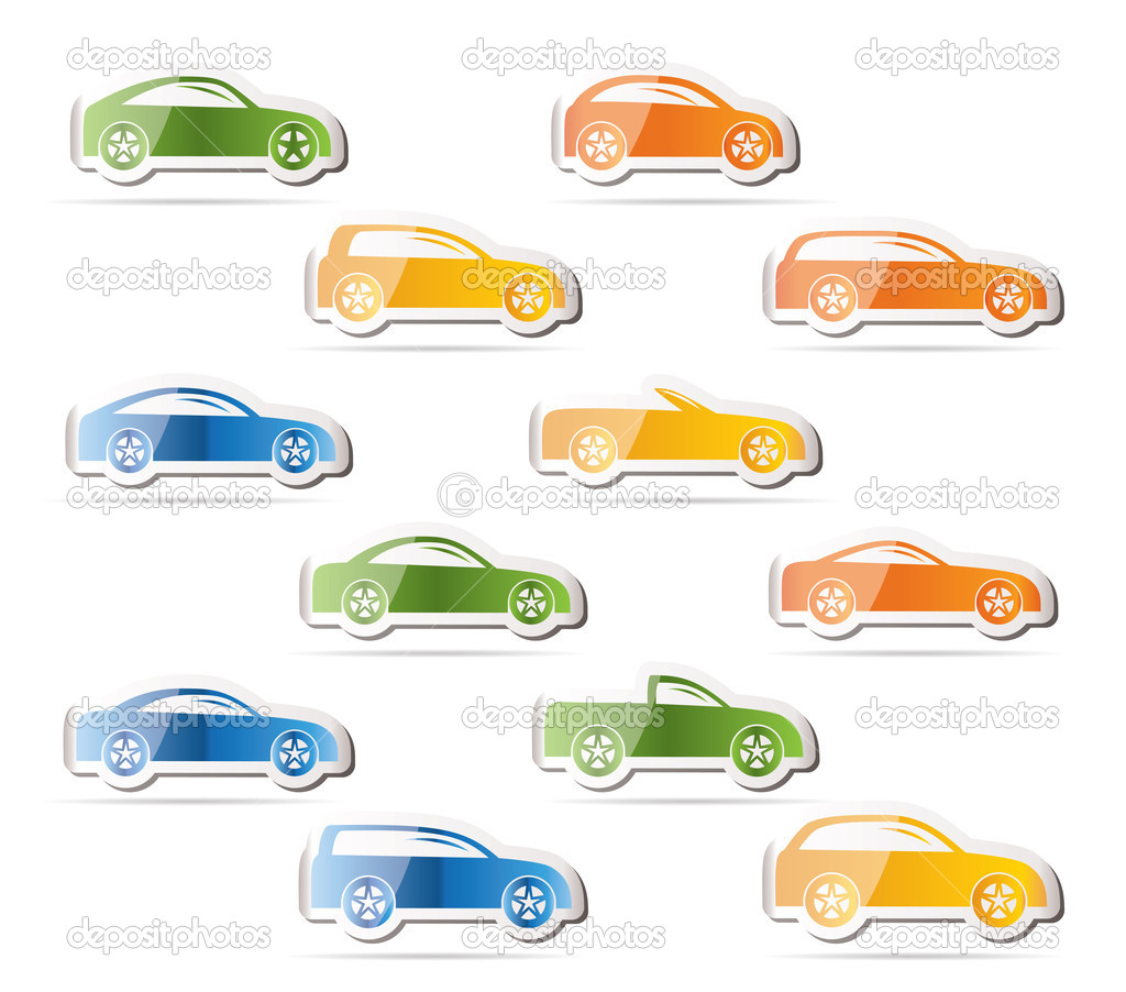 different types of cars icons vector icon set vector by stoyanh