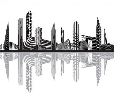Black and white city