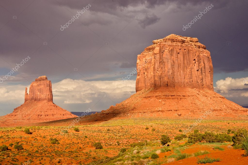 Evening Light at Monument Valley
