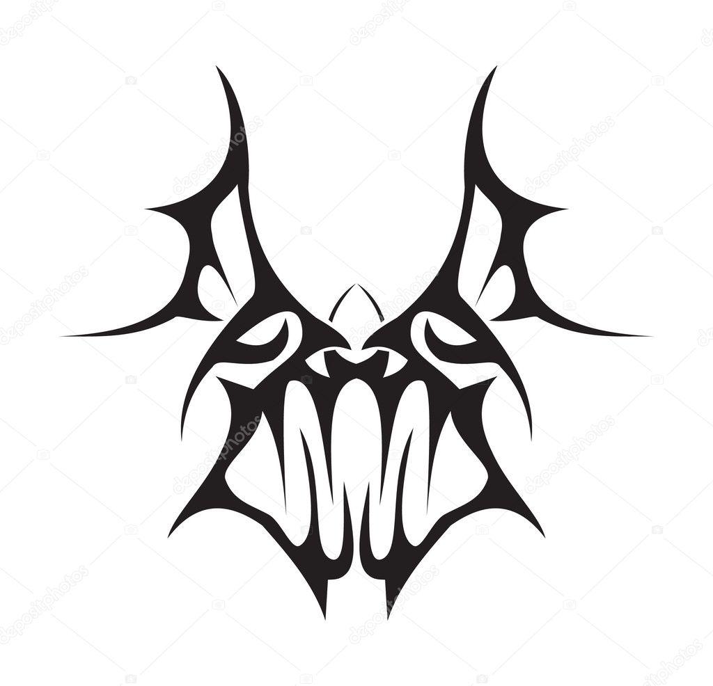 caa513d90 Tribal bat — Stock Vector © viola_inc #4611990