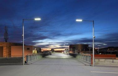 Car park at dusk