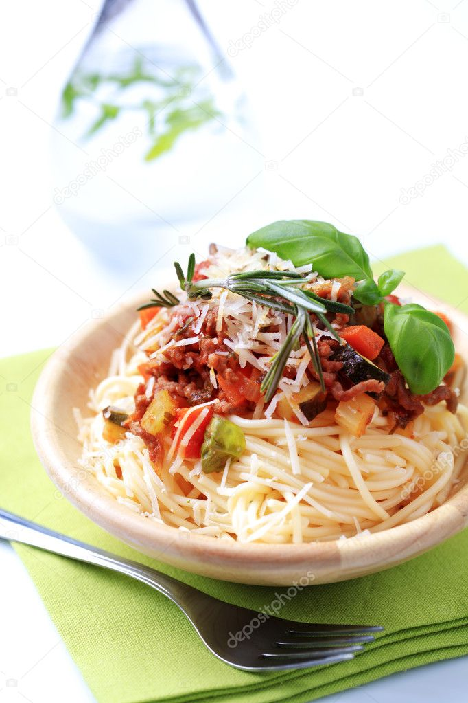 Spaghetti And Ragu Alla Bolognese Stock Photo C Ajafoto 4962382
