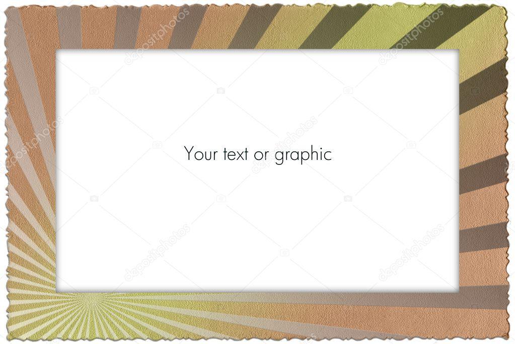 Retro alte Farbe Papier Rahmen — Stockfoto © Salfey #3934533