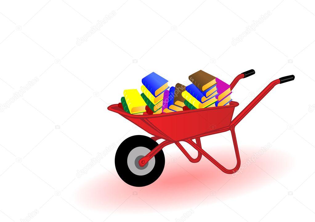 Vektor-Illustration farbig Bücher — Stockvektor © lelik759 #4807398