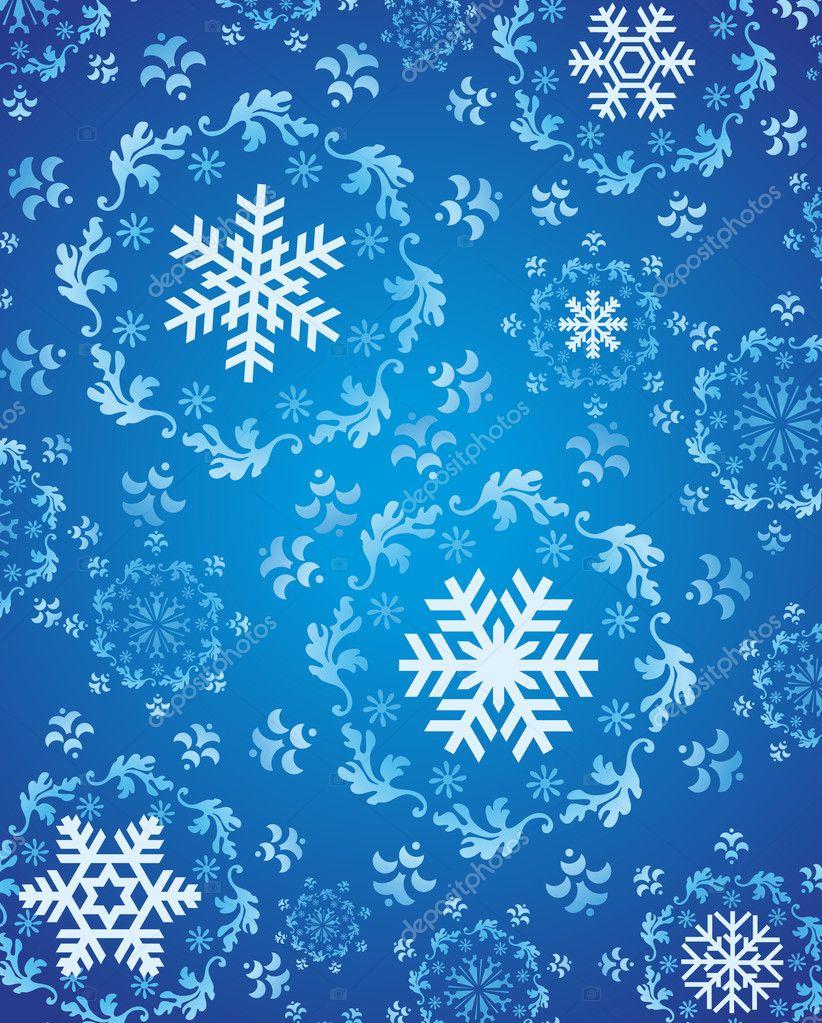 Schneeflocken Hintergrund Vektor für Winter und Weihnachten ...