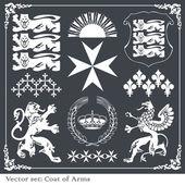 Sziluettek heraldikai oroszlánok vektor háttér