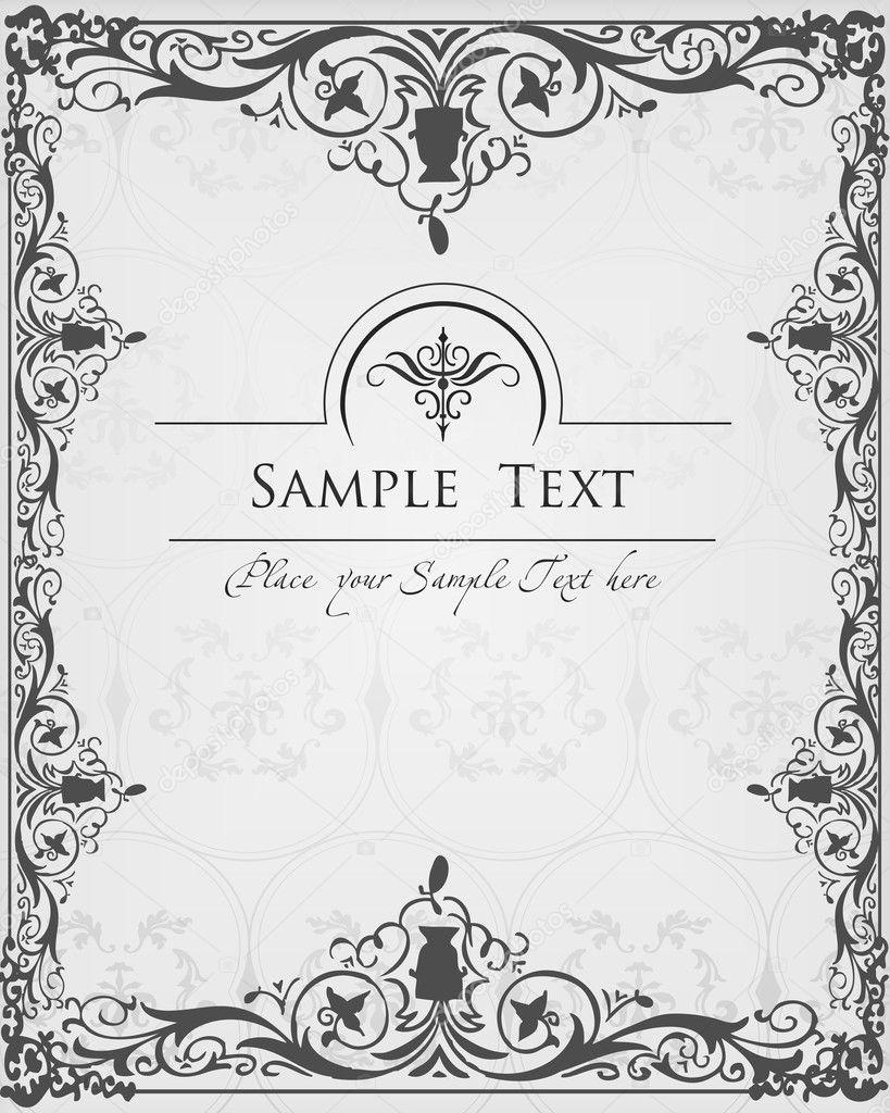 Vintage Book Cover Frame ~ Vintage elements for frame or book cover card u stock vector