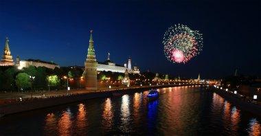 Moskova, 12 Haziran 2010, kremlin havai fişek independ onuruna sırasında