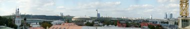 General view (panorama) of the city of Moscow from a viewing platform