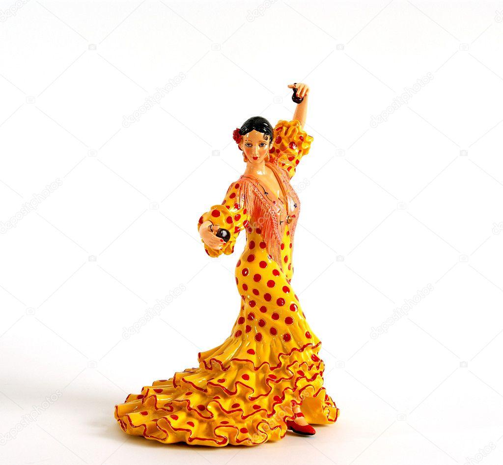 figure of spanish flamenco dancers u2014 stock photo vladj55 4659689