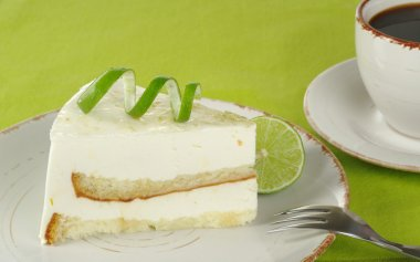 Lime Cake with Coffee