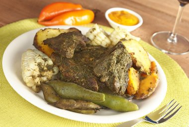 Traditional Peruvian Food Called Pachamanca