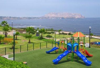 Playground in Park in Lima, Peru