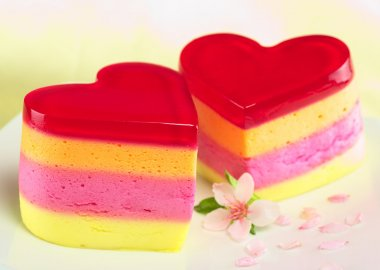 Heart-Shaped Cakes Called Torta Helada