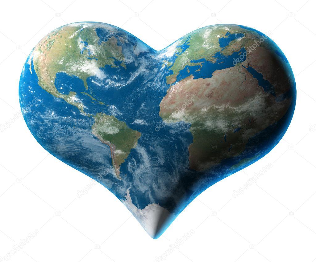 Earth - heart symbol