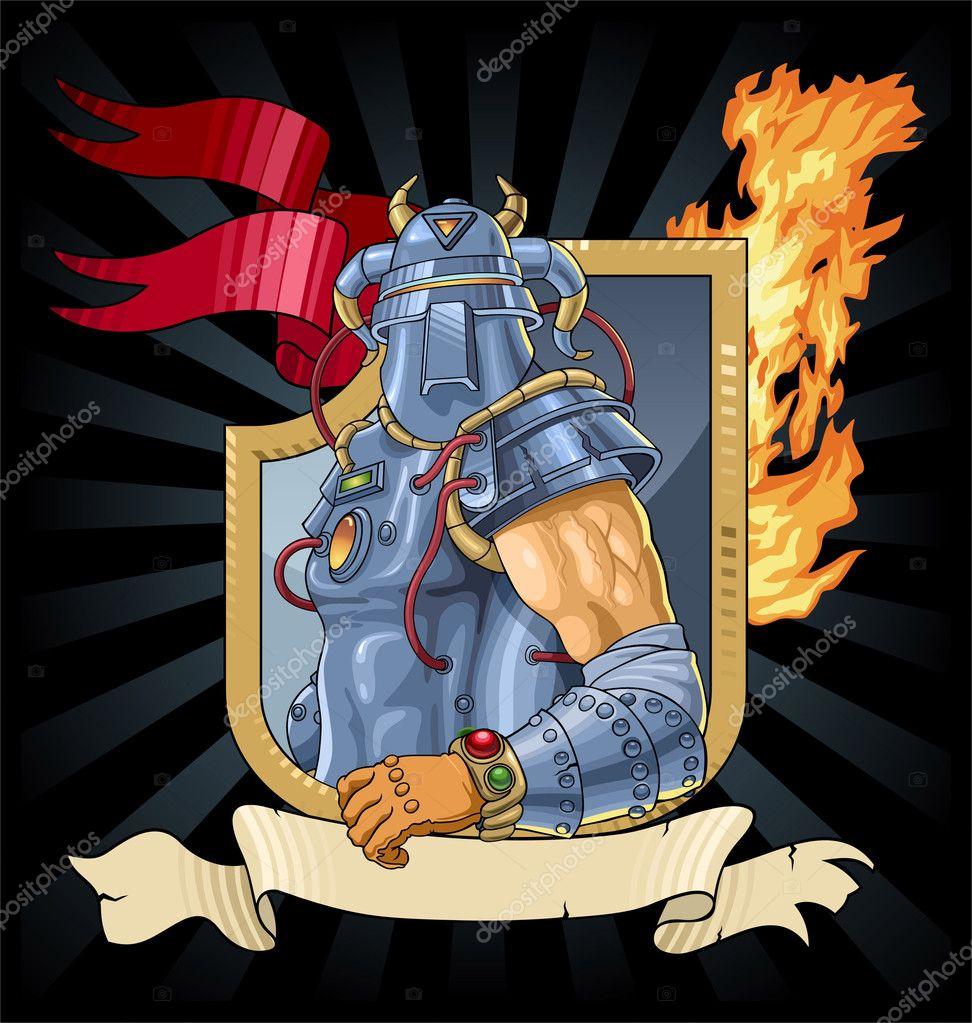 Caballero de la armadura — Archivo Imágenes Vectoriales © yuran1 ...