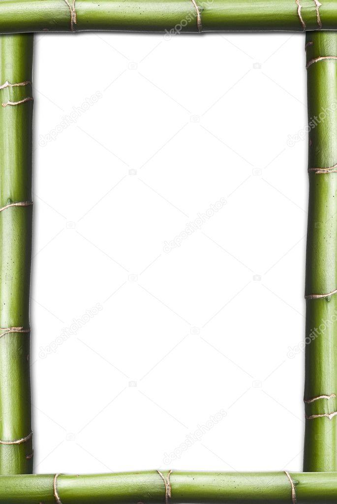 marco vertical hecha de bambú — Fotos de Stock © angelsimon #4287206
