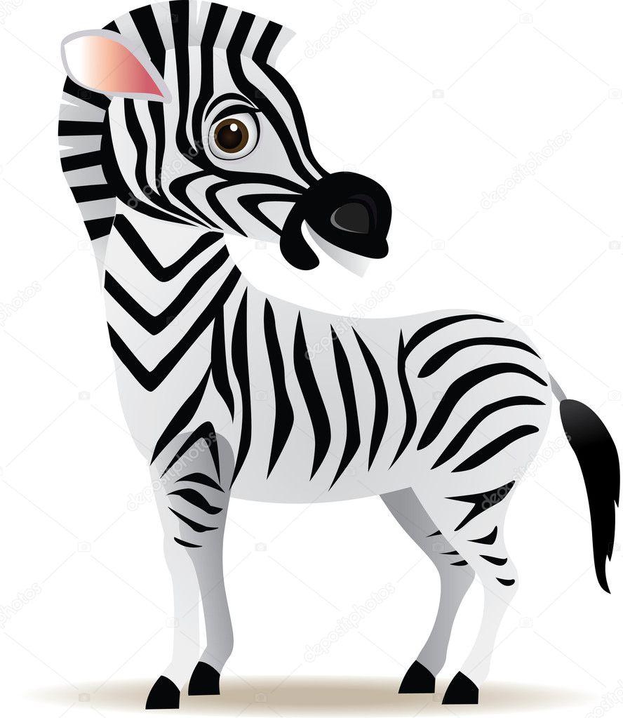 Immagini: zebra cartone cartone animato zebra u2014 foto stock