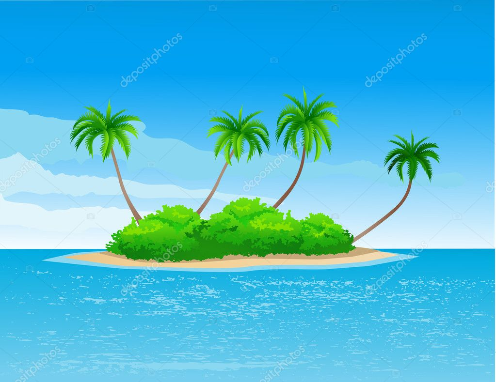 Beautiful tropical island