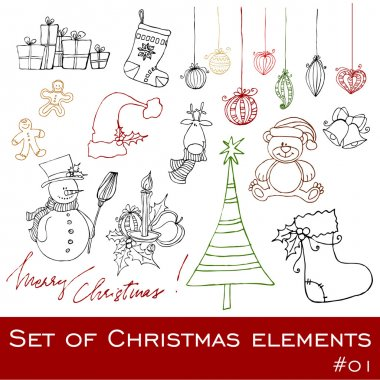 Cute Christmas elements