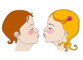 ilustrované roztomilý romantický dětí