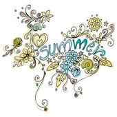 roztomilý doodle letní pozadí obrázku