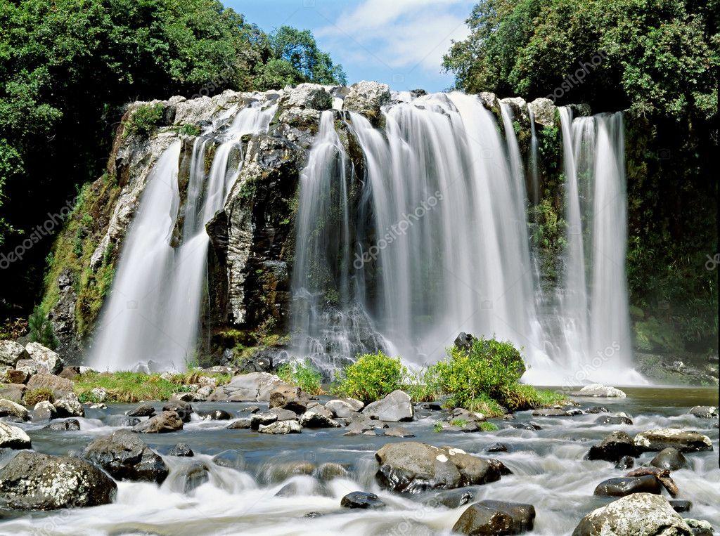 Waterfall in Reunion island