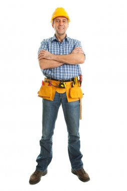Worker wearing hard hat