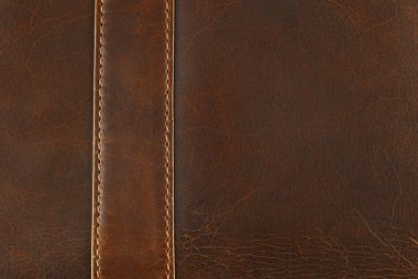 Leather texture with seam