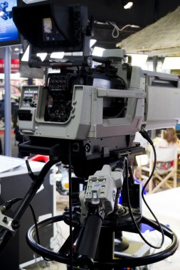 Close up of video camera