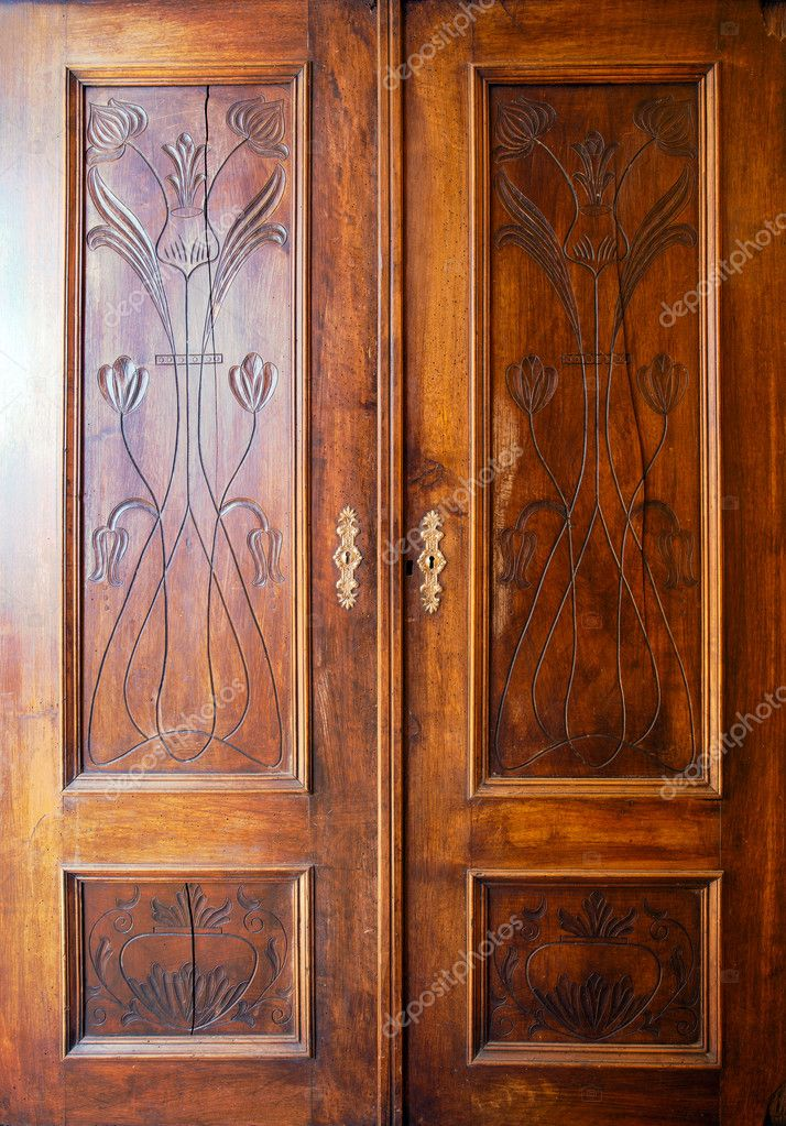 Wooden Closet Doors Stock Photo Krsmanovic 5258001