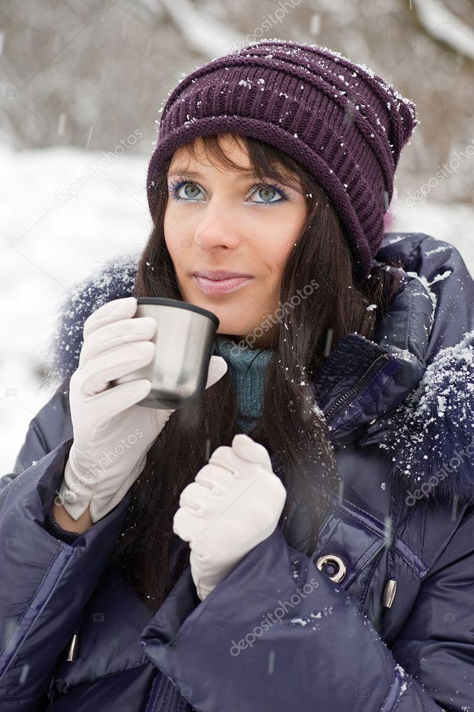 Winter girl portrait
