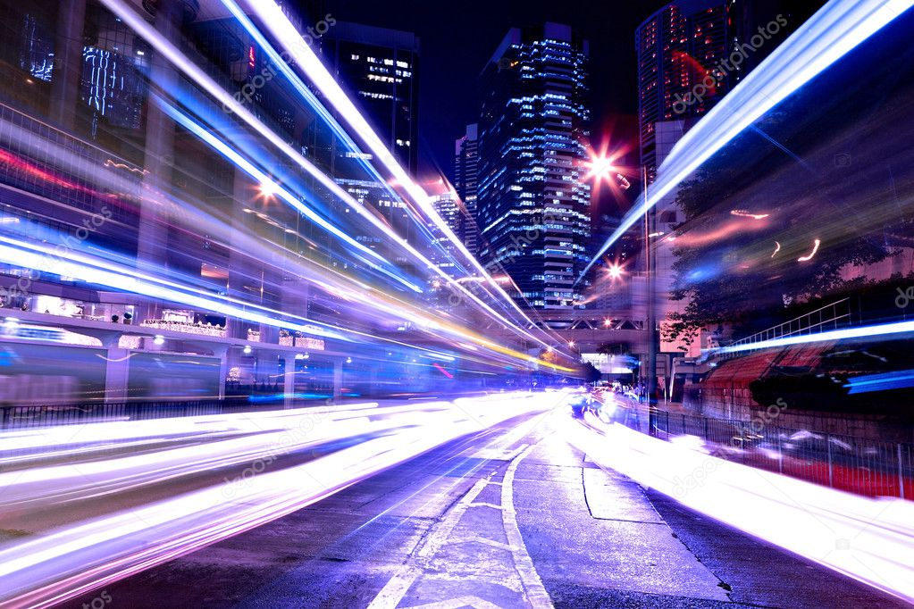 Фотообои Современный город ночью