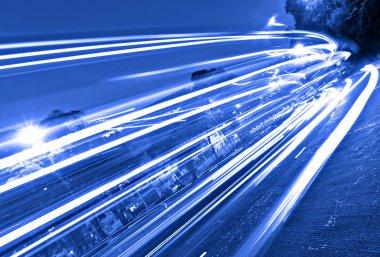 Traffic in mega city stock vector
