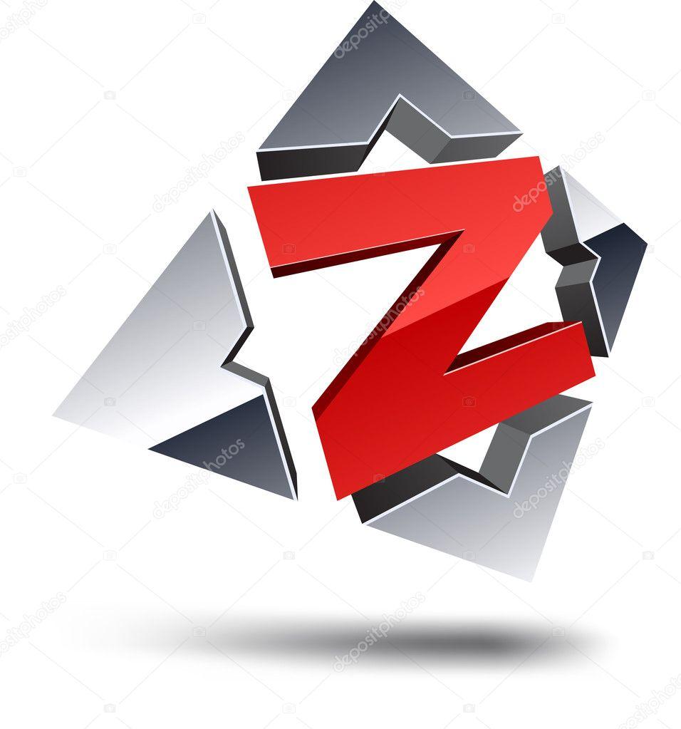 Z 3d letter. — Stock Vector © Maxborovkov #4968131