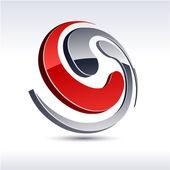 Fotografia 3d astratto spirale icona
