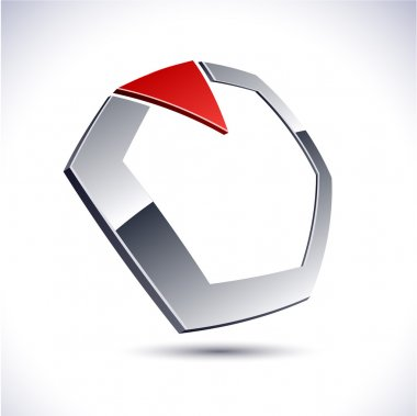 Abstract 3d diamond icon.