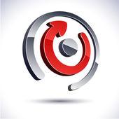 abstraktní 3d ikony.