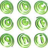 Green vibrant logo set.