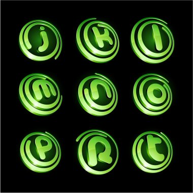 Green vibrant logo set.
