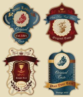 Wine vector labels